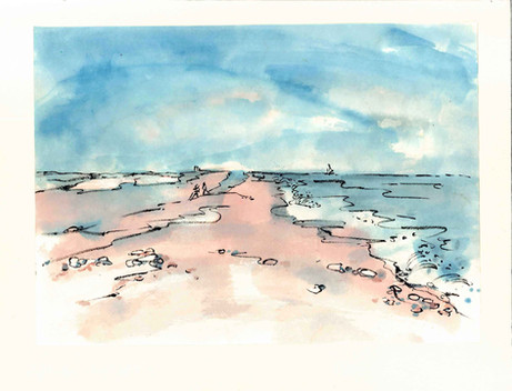 'Blakeney, Looking Left up the Coast'