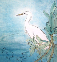 'Patience the egret waits'
