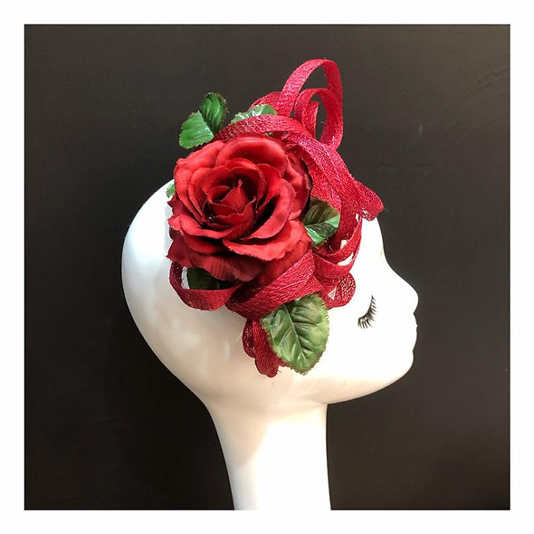 Oh So Red Fascinator