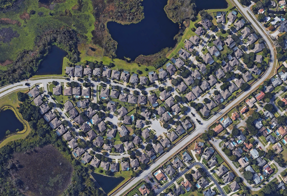 Aerial photograph of Crescent Park