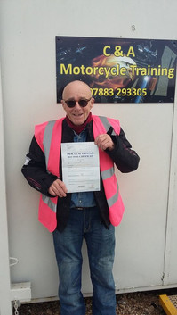 Congratulations to Mick Suckling on passing his Mod 2 this afternoon and gaining his full license!