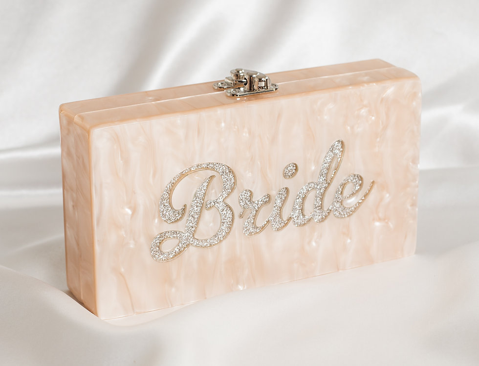 Acrylic Bride Clutch