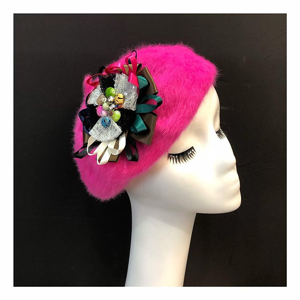 Burlesque Beret Pink