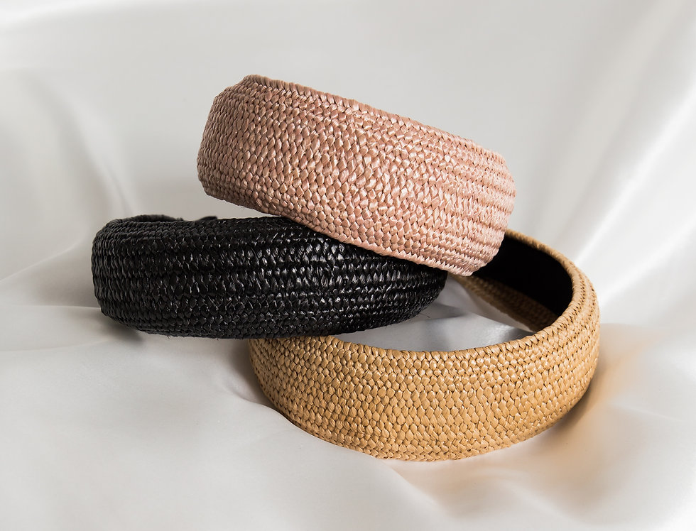 Padded Raffia Headbands