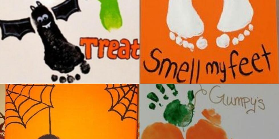 Halloween Baby Canvas Keepsake