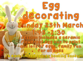 Other Activities for Sunday 25th March 🐣🐇👒🌼🌻🌸  ** LIMITED SPACES - BOOKING ESSENTIAL **