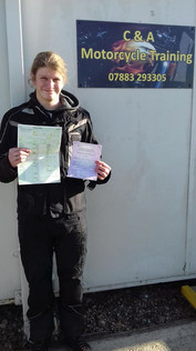 Belated congratulations to Robert Cotton on passing his Mod 1 on Friday with zero faults