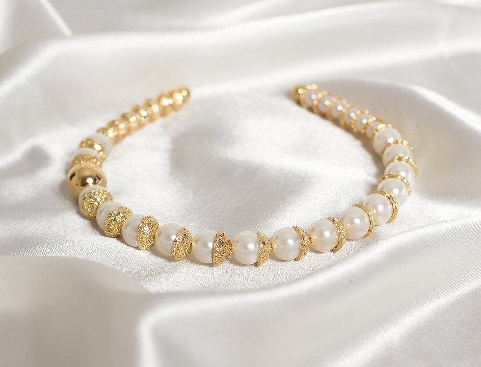 Gold and Pearl Headband