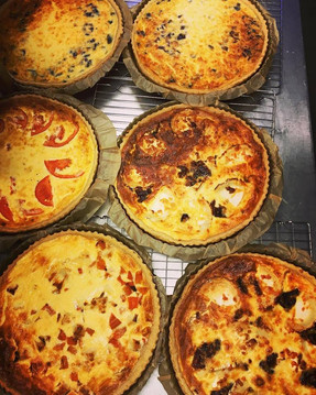 There was quite the quiche production line in the kitchen yesterday. Warming, healthy and comforting, no wonder it's so popular!