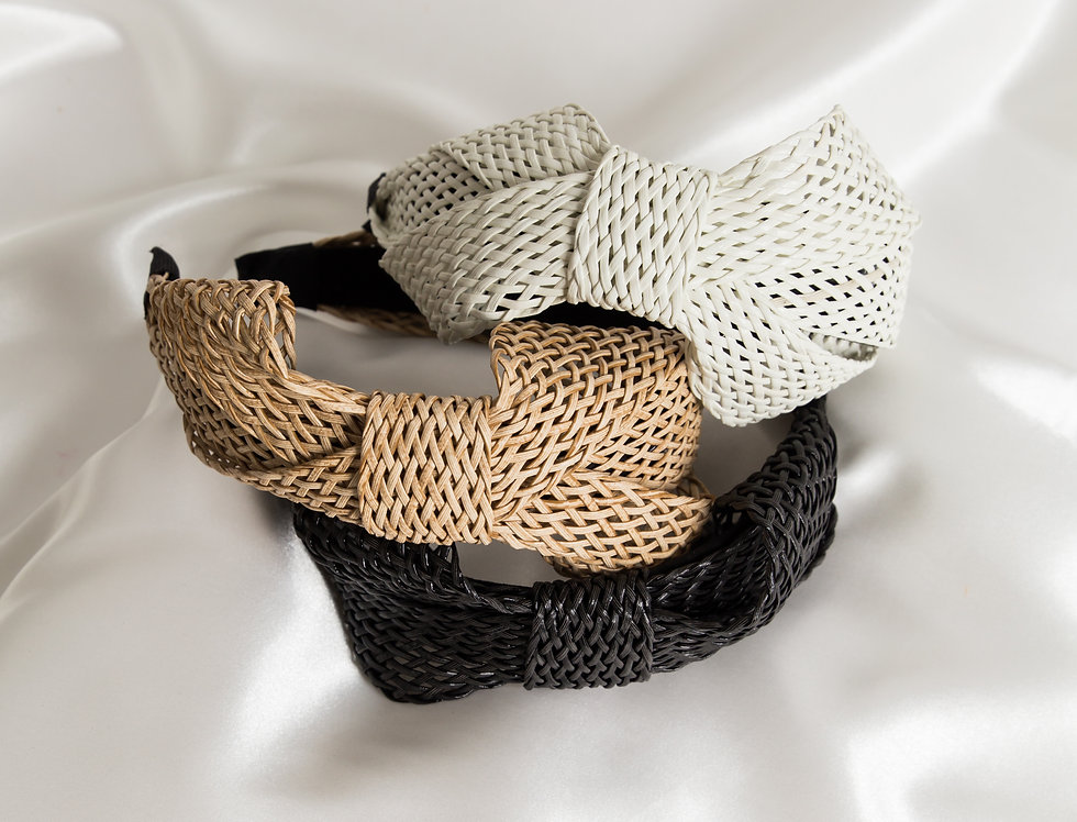 Raffia Bow Headbands