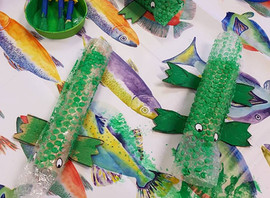 Crocodile painting and sticking craft 🐊🐊🖌🎨
