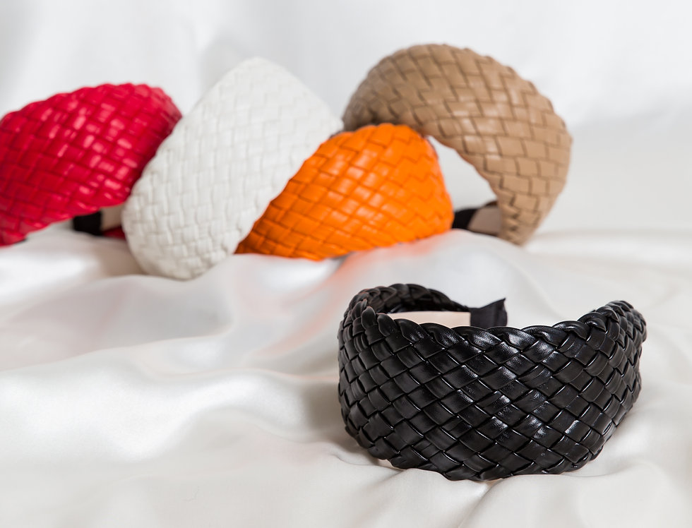 Betsy Plaited Leather Look Headbands From Inspired Collection