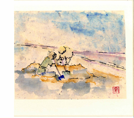 'Playing in the Sand'