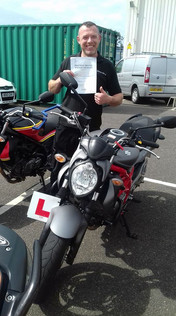 Massive Congratulations to our test passes this week. Harry Davidson and Gary Farell both on gaining their Mod1 passes and Josh Finch, Martin Jenna and Jason Neal on passing their mod 2 and gaining their full motorcycle licences. Special word goes to Jason who passed with zero riding faults and had never ridden a bike before last week! Fantastic result for you all.