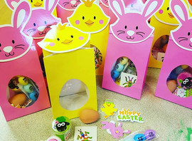 Easter gift packs available. Each pack contains an egg pop it pen, sheep noise putty, bunny face whi
