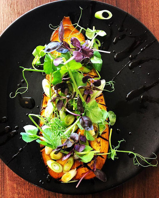 This vibrant vegetarian option is on our specials board this week. You're looking at our honey and soy glazed aubergine. 🍆🍯let us know what you think!