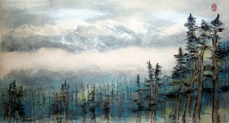 'Distant Mountains: Canadian Rockies'