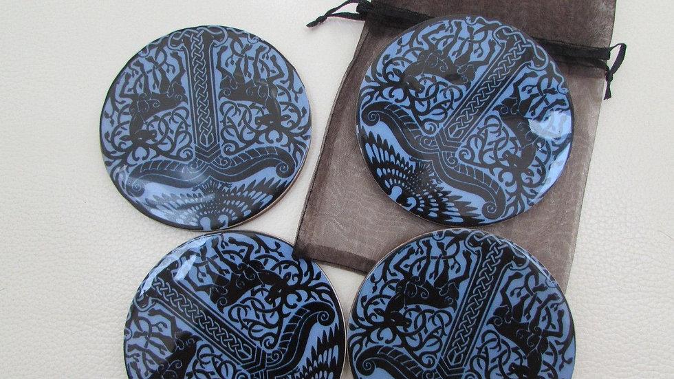 Blue and Black pretty coasters