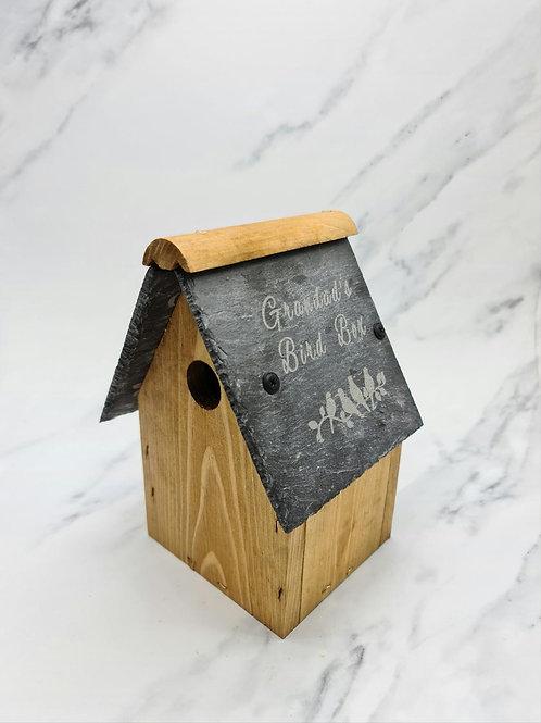 Wooden Bird Box / Nest Personalised