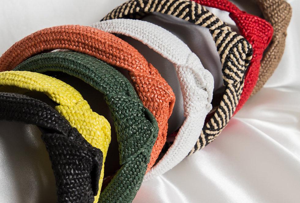 Knotted Raffia Headbands