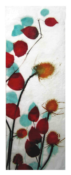 'Autumn Colours: Chinese lanterns and thistles'