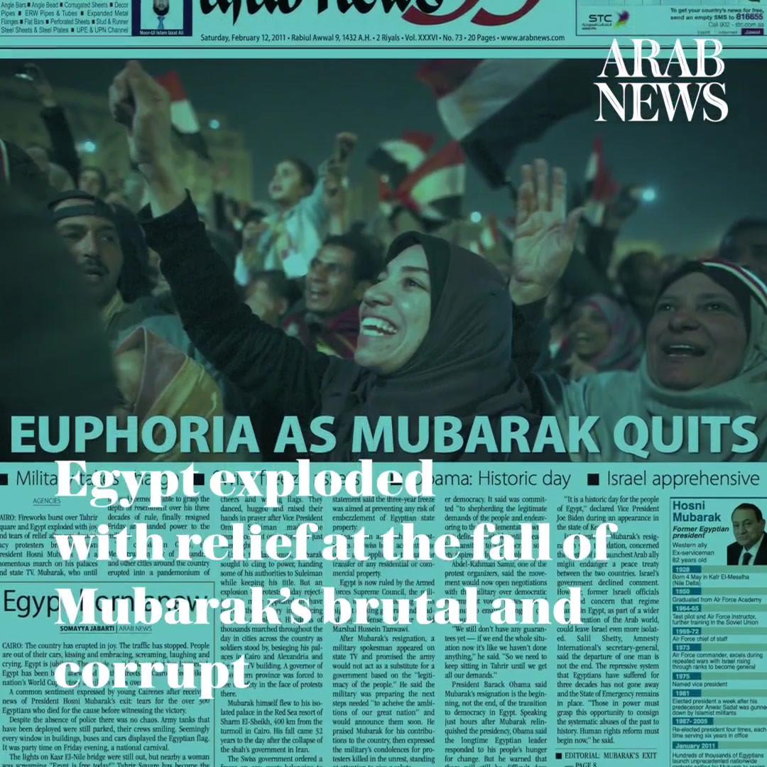 34. Feb. 11, 2011, Resignation of Mubara