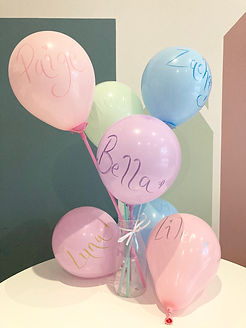 Personalised Balloon Wands x 1 per Little Guest
