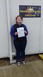 Congratulations to Michaela Baker on passing her mod 2 with only 2 minors