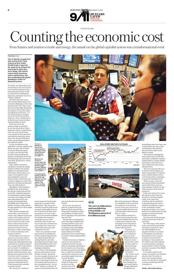 Arab News 9/11/21 (page 8)