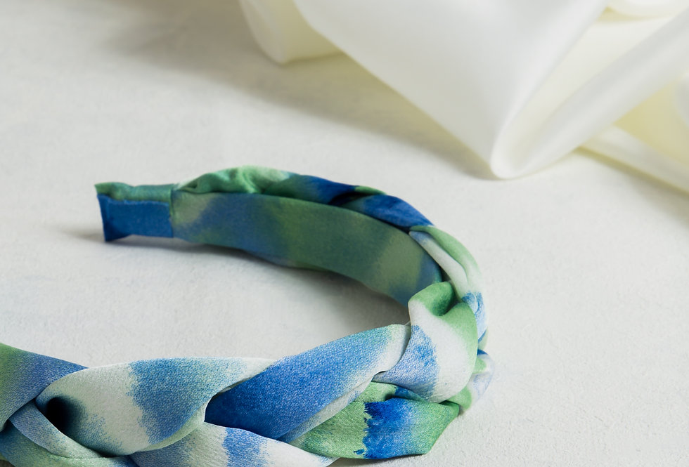 Plaited Tie Dye Headband