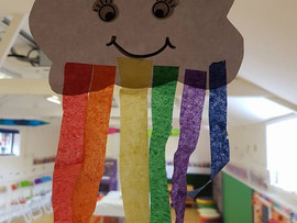 🌈🌈🌈🎨🖌🖍✂one of today's crafts for rainbow week 🌈🌈🌈