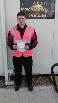 Congratulations to Callum for passing his mod 1 today