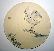 'The huntress: Egret fishing'
