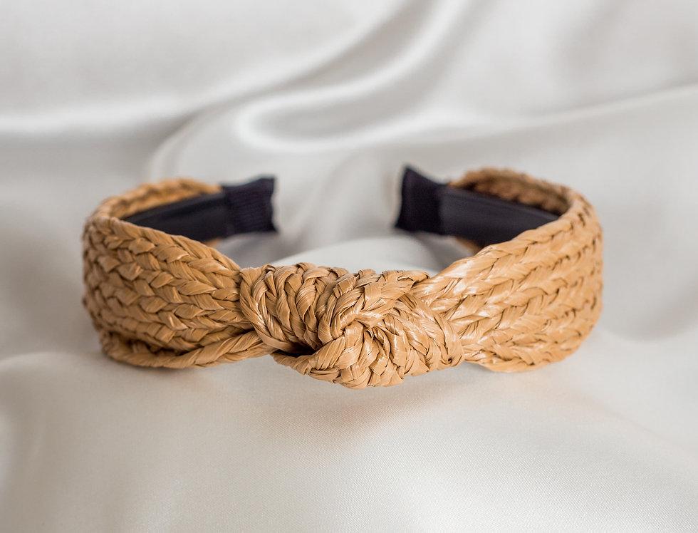 Knotted Raffia Headband