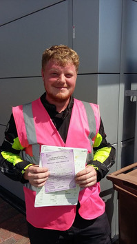 Well done to Daniel Fisher on passing his Mod 1 at Norwich this morning with a clean sheet and all speeds at 53kph. A new standard has been set!