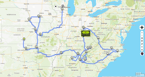 Journey from Oregon to Wisconsin