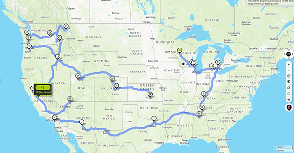 Journey from Wisconsin to Oregon