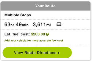 Hours, miles, and the cost of fuel to get back.