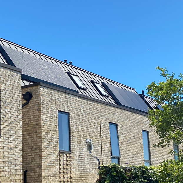 New build standing seam roof