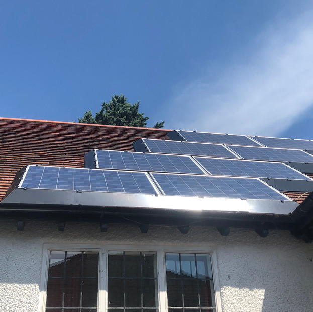 SolaSkirt on a staggered panel installation