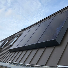 Full surround skirt on 2 PV systems for new development