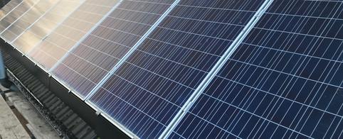 Solar skirt on side panels