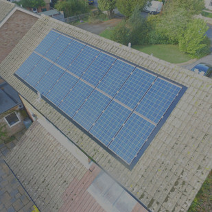 Aerial shot of our Solar Panel Skirt system