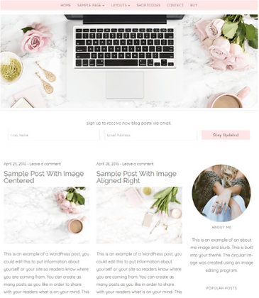 Feminine WordPress Themes for Bloggers