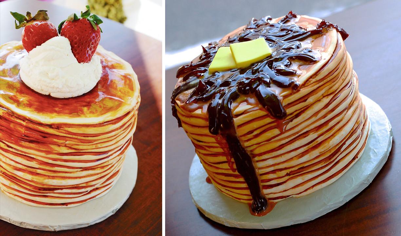 3D Pancake Cake