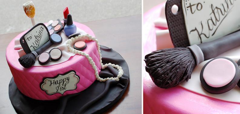 3D Makeup Cake