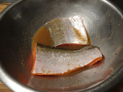 Alaskan Salmon Marinating ;o)