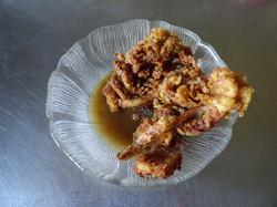 Olive oil pan fried Calamari dipped in FLAVOR.