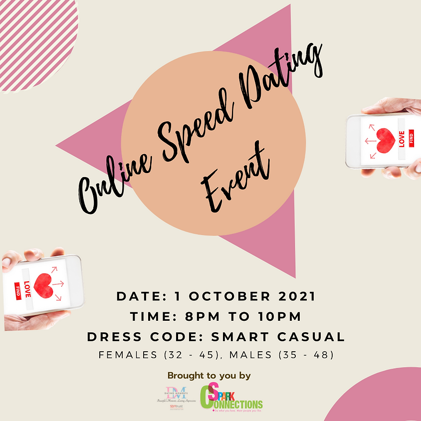 Online Speed-Dating Event! (F 32-45, M 35-48) (CALLING FOR GENTS)