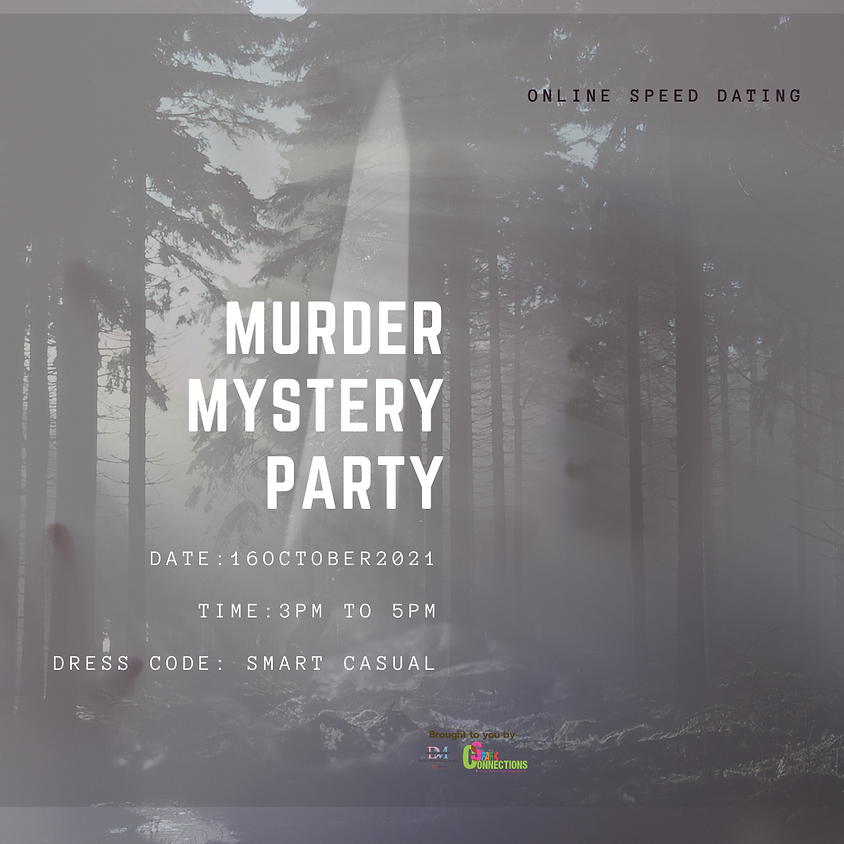 Murder Mystery Party (CALLING FOR LADIES)